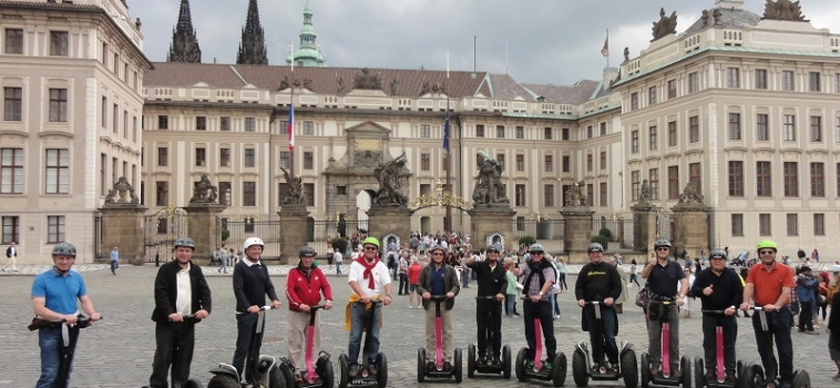 Segway Prague Castle tour with the view of Prague