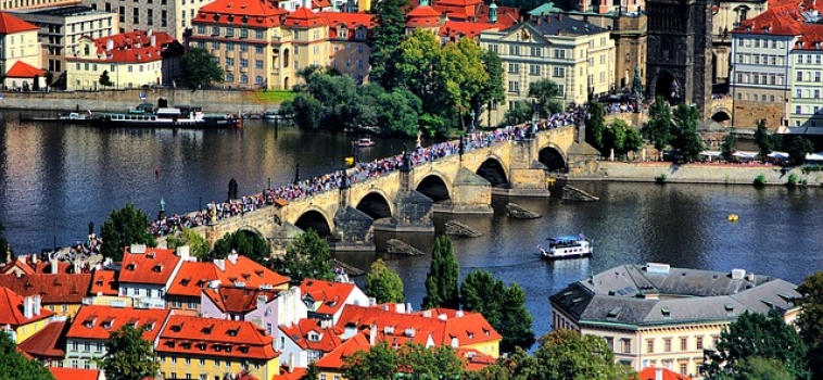 Where is prague located geographical facts for Prague location